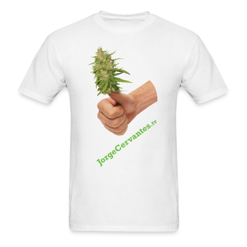 Jorge Cervantes TV Thumbs Up Bud  - Men's T-Shirt