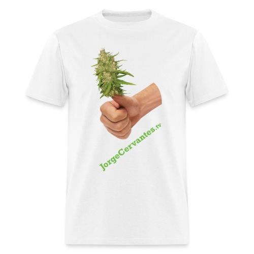 Jorge Cervantes TV Thumbs Up Bud  - Men's T-Shirt