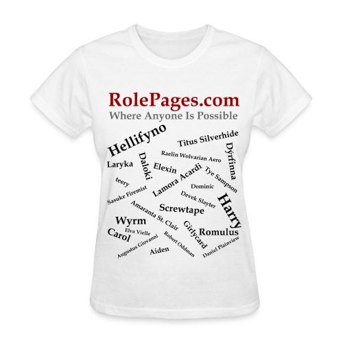RolePages Character Name Shirt 3 - 10/17/11 - Women's T-Shirt