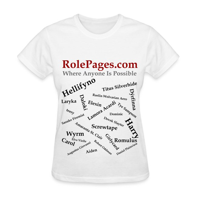 RolePages Character Name Shirt 3 - 10/17/11
