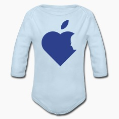 Apple Heart jobs (1c) Baby Bodysuits