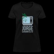 Women's T-Shirts ~ Women's T-Shirt ~ Jorge Cervantes TV (Metallic Silver)