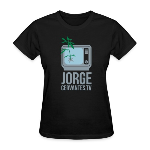 Jorge Cervantes TV (Metallic Silver) - Women's T-Shirt