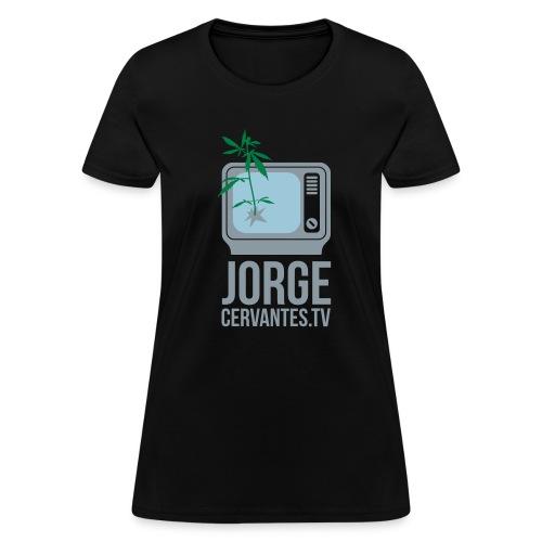 Jorge Cervantes TV (Metallic Silver) - Women's T-Shirt