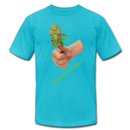 T-Shirts ~ Men's T-Shirt by American Apparel ~ Jorge Cervantes TV Thumbs Up Bud (American Apparel)