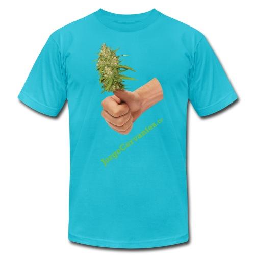Jorge Cervantes TV Thumbs Up Bud (American Apparel) - Men's Fine Jersey T-Shirt