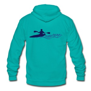 Kayaking Waterhead - Unisex Fleece Zip Hoodie by American Apparel