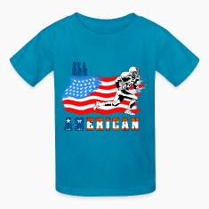 All American Football player 2 Kids' Shirts