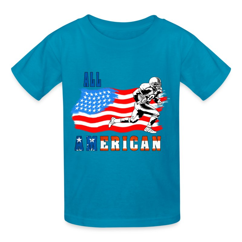 All american football player 2 t shirt spreadshirt for All american classic shirt