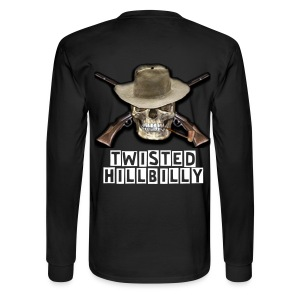 Twisted Hillbilly Skull On Back - Men's Long Sleeve T-Shirt