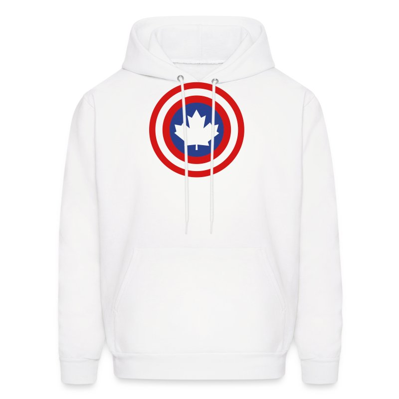 Captain Canada Shield 2 Colour - Men's Hoodie