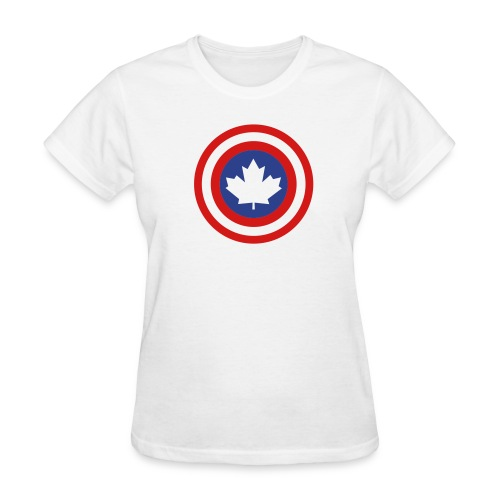 Captain Canada Shield 2 Colour - Women's T-Shirt