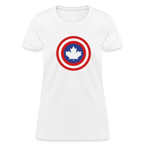 Captain Canada Shield 2 Colour - Women's T-Shirt
