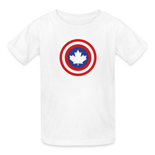 Captain Canada Shield 2 Colour - Kids' T-Shirt