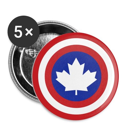 Captain Canada Shield 2 Colour - Large Buttons