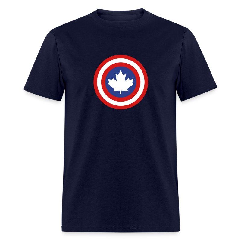 Captain Canada Shield 3 Colour - Men's T-Shirt