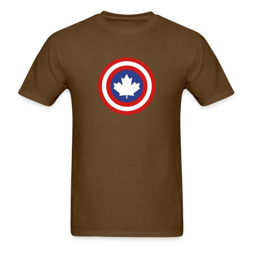 Captain Canada Shield 3 Colour - Men's T-Shirt