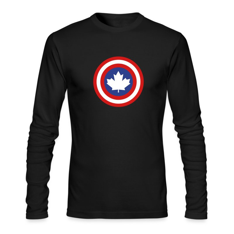 Captain Canada Shield 3 Colour - Men's Long Sleeve T-Shirt by Next Level