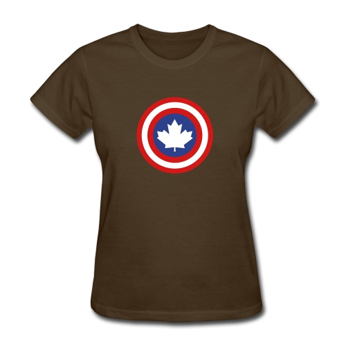 Captain Canada Shield 3 Colour - Women's T-Shirt