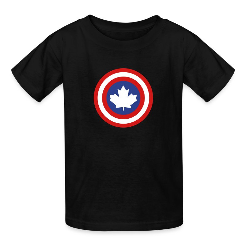 Captain Canada Shield 3 Colour - Kids' T-Shirt