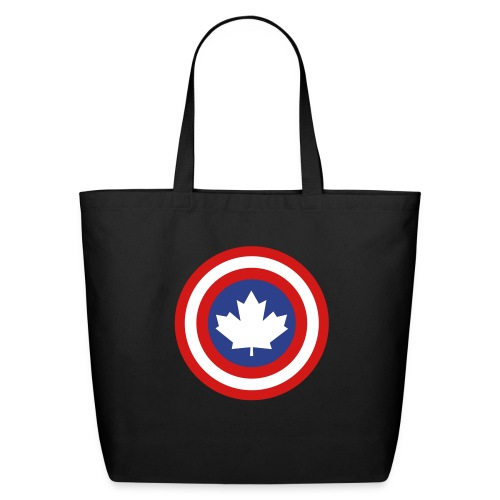 Captain Canada Shield 3 Colour - Eco-Friendly Cotton Tote