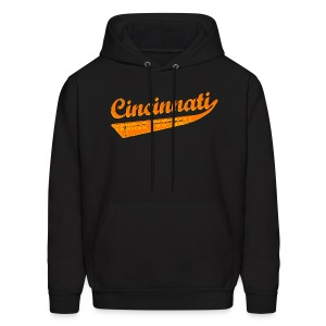 Men's Hoodie - Who dey! Carson Palmer is outta here and your Cincinnati Bengals are playoff bound! You might think Mike Brown may sucks, but this funny Cincinnati tackle football shirt certainly doesn't! Available in several colors, sizes, and styles, including babies and even dogs! Cincinnati is not only a kick ass city, it's the home town of Flying Pigs, Alternative Motive and the Cincinnati Bengals.