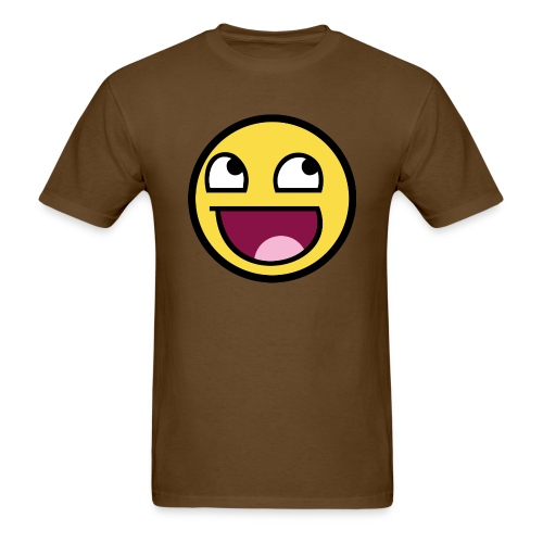 Awesome Smiley Face [RG] - Men's T-Shirt