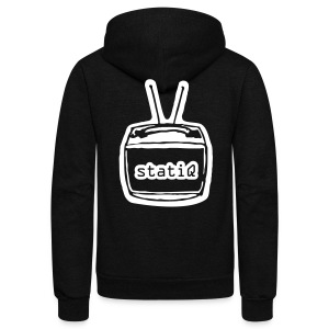 statiQ TV head zip up hoodie - Unisex Fleece Zip Hoodie by American Apparel