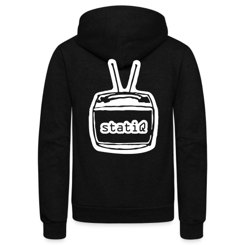 statiQ TV head zip up hoodie - Unisex Fleece Zip Hoodie