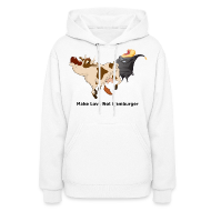 Hoodies ~ Women's Hoodie ~ Make Love Not Hamburger - Women's Hoodie