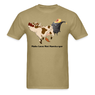 T-Shirts ~ Men's T-Shirt ~ Make Love not Hamburger - Men's T