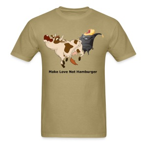 Make Love not Hamburger - Men's T - Men's T-Shirt