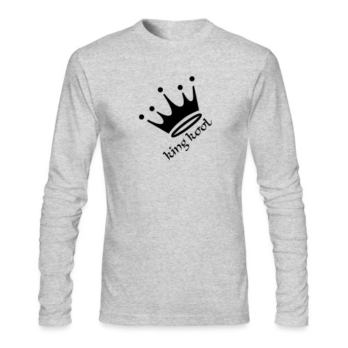 Mens King Long Sleeve Grey - Men's Long Sleeve T-Shirt by Next Level