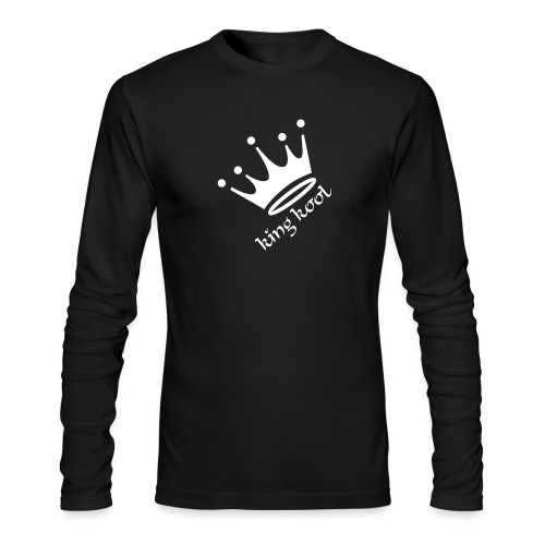 Mens King Long Sleeve Black - Men's Long Sleeve T-Shirt by Next Level