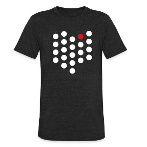 Unisex Tri-Blend T-Shirt - Cleveland, OH themed abstract dot design from City State Tees. 2 color front print design on an American Apparel tri-blend. Choose your very own color shirt! Made in the USA.