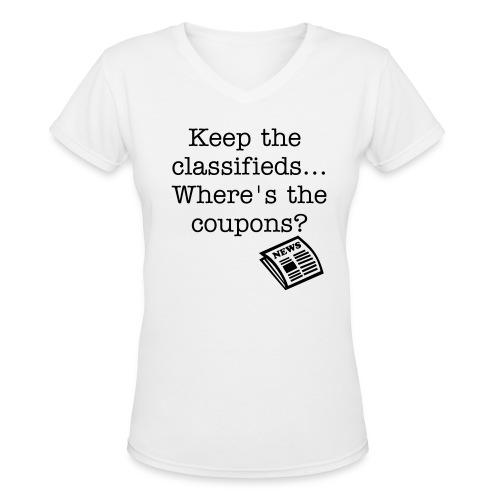 Newspaper Inserts - Women's V-Neck T-Shirt
