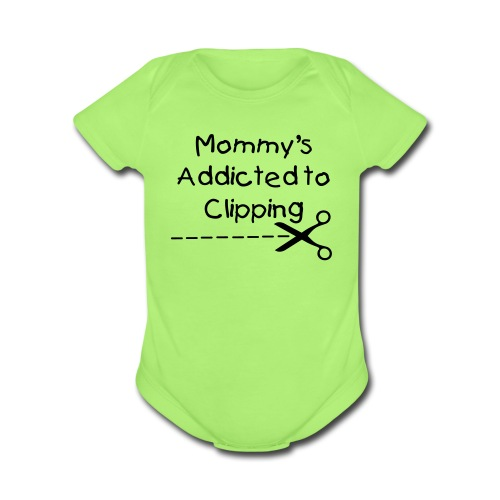 Mommy's Addicted! - Organic Short Sleeve Baby Bodysuit