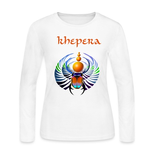 Khepera Long Sleeve Ladies Tshirt - Women's Long Sleeve Jersey T-Shirt
