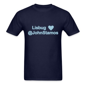 Lisbug heart @johnstamos - Men's T - Men's T-Shirt