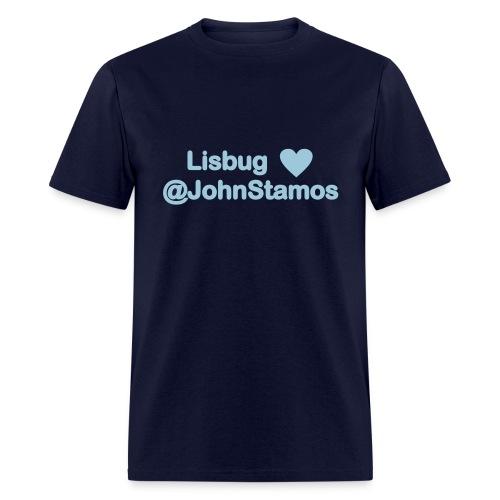 Lisbug heart @johnstamos - Men's T - Men's T-Shirt