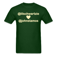 T-Shirts ~ Men's T-Shirt ~ @lilschwartzie heart @johnstamos - Men's T