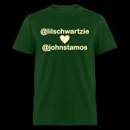 T-Shirts ~ Men's T-Shirt ~ @lilschwartzie heart @johnstamos - Men's T