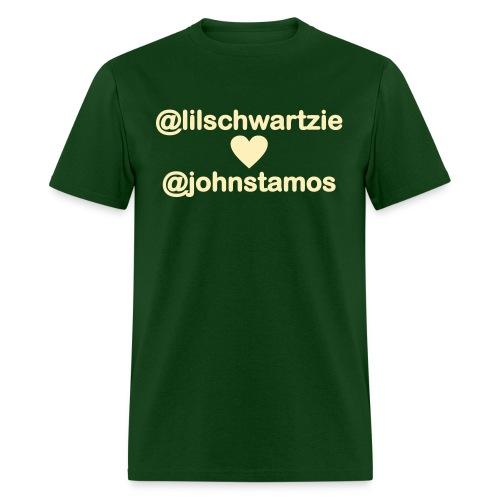 @lilschwartzie heart @johnstamos - Men's T - Men's T-Shirt