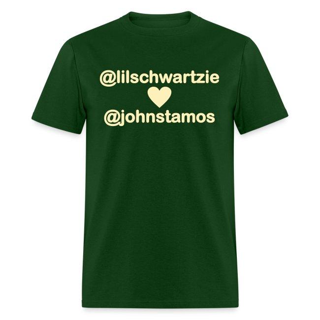 @lilschwartzie heart @johnstamos - Men's T