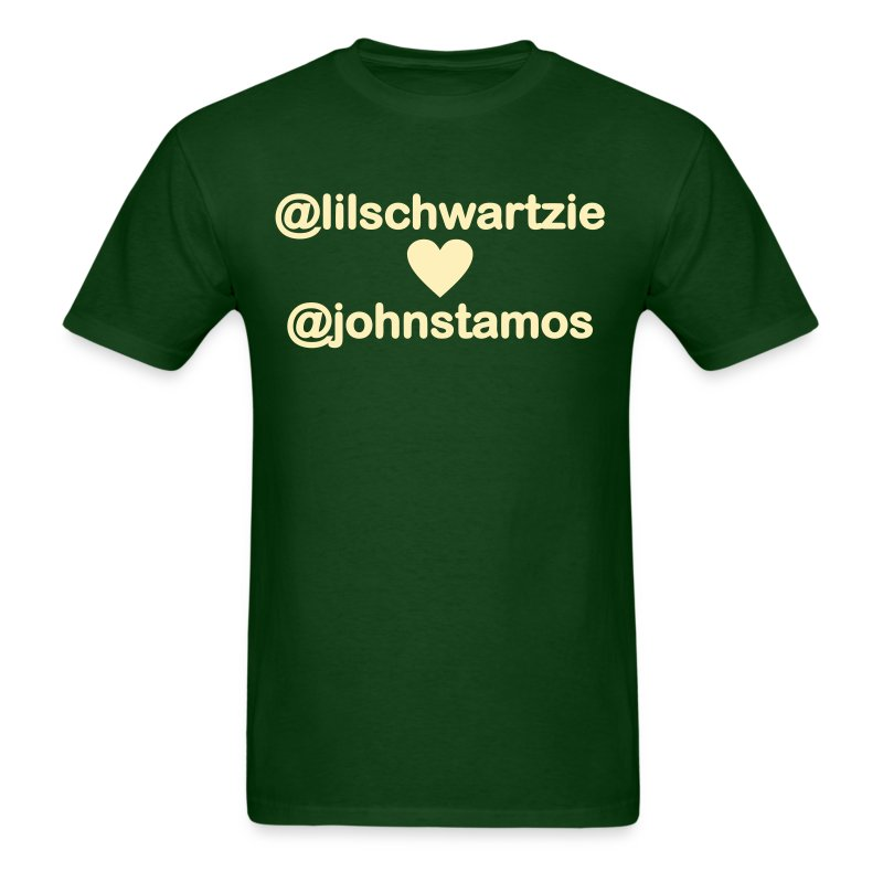 @lilschwartzie heart @johnstamos - Men's T - Men's T-Shirt