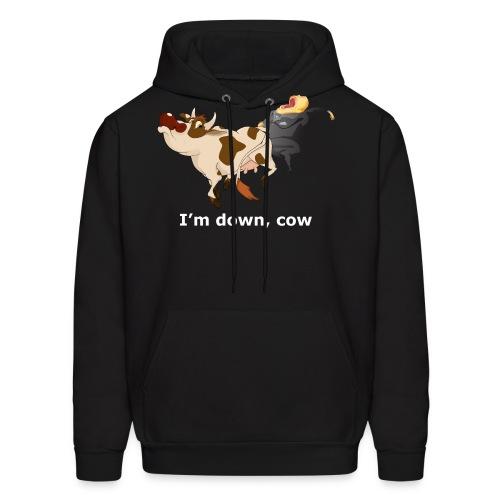 I'm down, cow - Dark Hoodie - Men's Hoodie