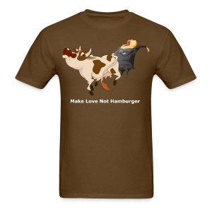 Make Love Not Hamburger - Dark T - Men's T-Shirt