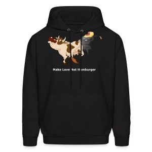 Make Love Not Hamburger - Dark Hoodie - Men's Hoodie