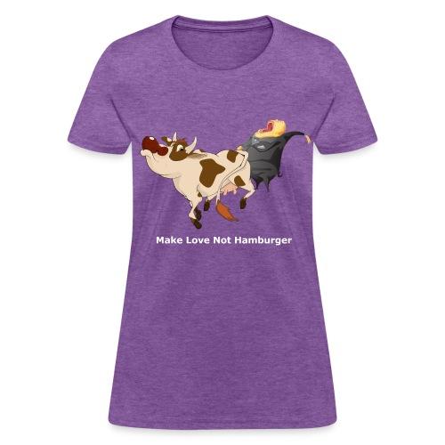 Make Love Not Hamburger - Dark -Women's T - Women's T-Shirt