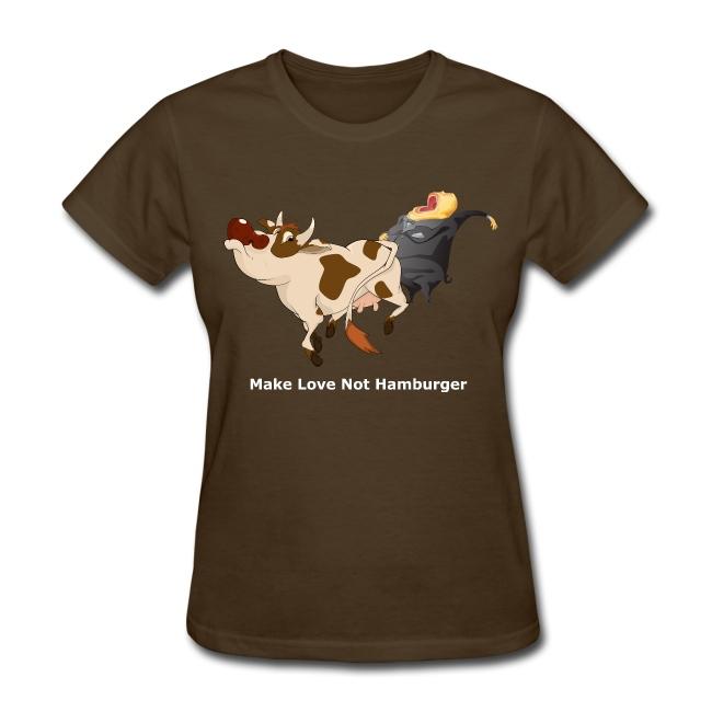 Make Love Not Hamburger - Dark -Women's T